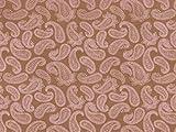 Dekostoff Vorhangstoff Satin Ornamente Paisley Muster braun