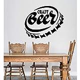 Cerveza Artesanal Alcohol Toallita Tapa De Botella Pegatinas De Pared Bar Oferta Restaurante Tatuajes De Pared Extraíble Decoración De La Habitación Papel Tapiz 56X66Cm