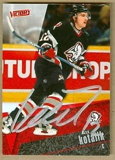 Autograph Warehouse 67095 Ales Kotalik Autographed Hockey Card Buffalo Sabres 2003 Ud Victory No. 21