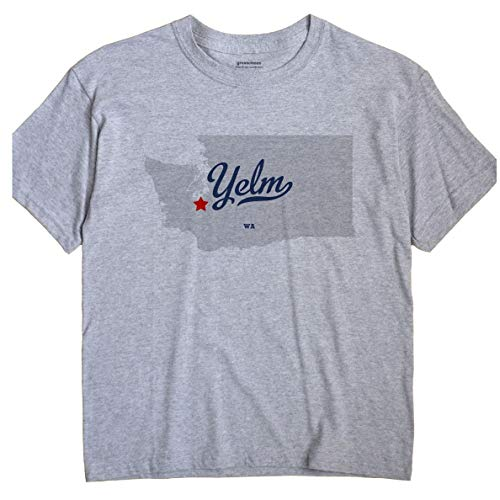 GreatCitees Yelm Washington T-Shirt MAP Large Grey