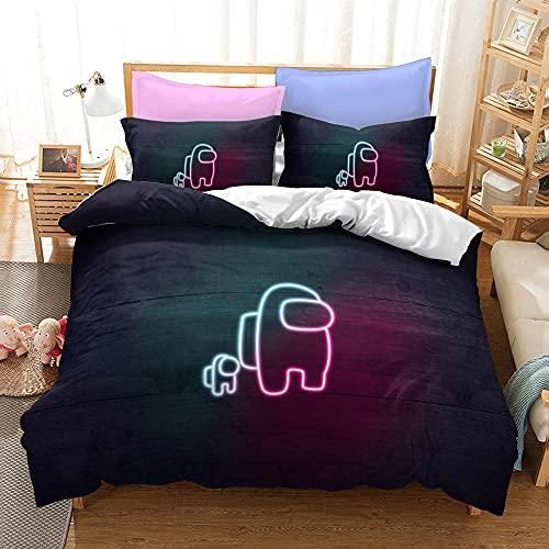 Bedclothes-Blanket Juego de sabanas Cama 90 Juveniles,Tres Conjuntos de Kits de Cama de Dibujos Animados de impresión Digital 3D-29_180x210cm