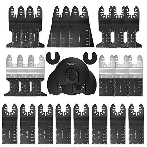 Multitool Sägeblätter Oszillierendes Zubehör Set 28tlg Mix Schnellspannvorrichtung Multifunktionswerkzeug für Makita Fein Multimaster Rockwell Bosch Handwerker und mehr
