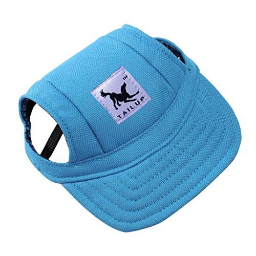 RETUROM Ropa para Mascotas, Verano pequeño Mascota Lona Perro béisbol Visera Sombrero Gorras al Aire Libre