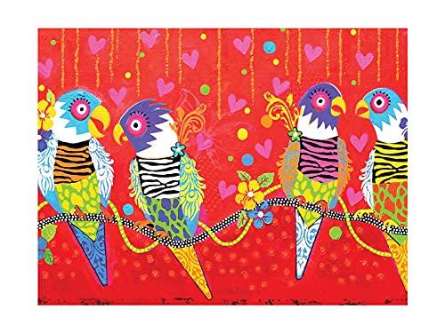 Maxwell & Williams - Strofinaccio stampato, motivo: tigre tigre, 100% cotone, colore: rosso, 50 x 70 cm