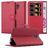 Cadorabo Coque pour LG X Screen en Rouge Cerise - Housse Protection avec Fermoire Magnétique, Stand...