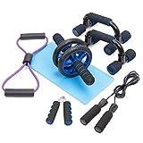 HONEYWHALE 6 en 1 Appareils de Fitness Kit avec Roue Abdominale,...