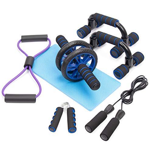 HONEYWHALE 6 en 1 Appareils de Fitness Kit avec Roue...