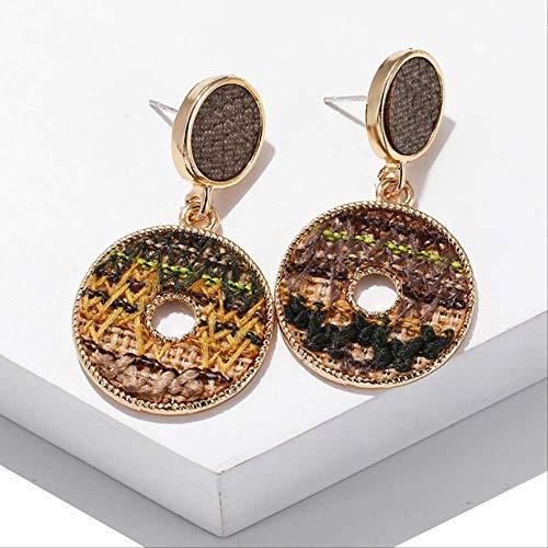 Oorbel bengelen Oorbellen Dames 2 kleurige gevlochten oorbellen Veelkleurige ringgeschenken voor vrienden Dagelijks dragenFeestmeisje ez343-3
