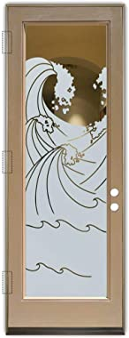 Glass Front Entry Door Sans Soucie Art Glass High Seas