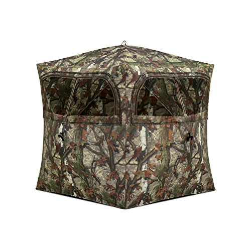 Barronett Blinds GR251BT Grounder 250 Pop Up Portable 2 Person Blind, Bloodtrail Woodland Camo