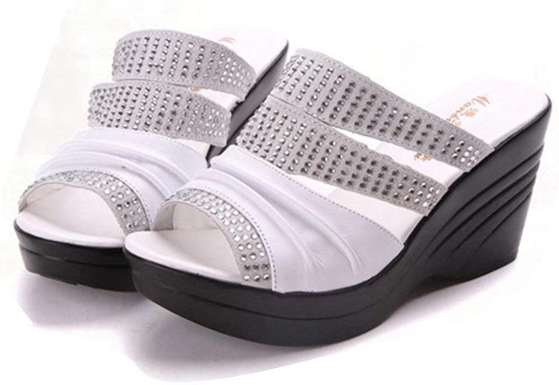 Beautiful - Fashion Women Open Toe Wedge Platform Sandals Summer Beach Slip on High Heels Sandals Slide shoes