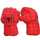 YUY Guante De Boxeo Spiderman Toys Superhéroe Spider Man Gloves Increíbles Spider Man Disfraz Cosplay Muñecas Niños Niñas.
