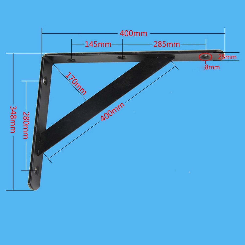 QFFL Table Bracket Support Iron Bracket 90 Degree Right Angle Bracket Shelf Shelves Thickened Bracket Wall Shelf Size Optional Lapdesks (color   Black, Size   400  348mm)