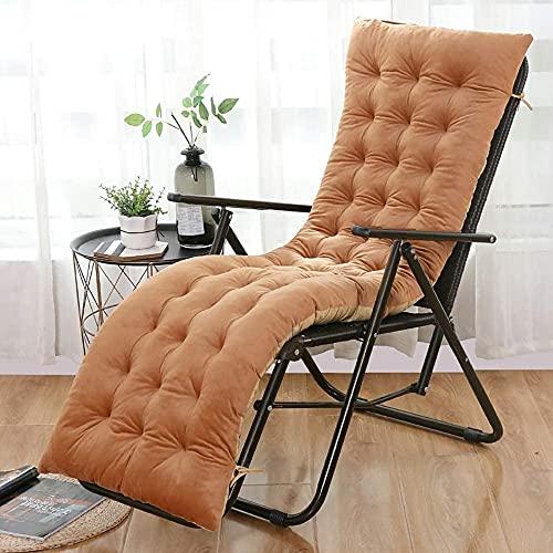 YQLWX Inomhus/utomhus tufted chaise lounge kudde, säsongsbetonade väder ersättning kuddar, gungstol kudde för soffan relaxer matsal stolar, blå, 55x170cm (22x67in)