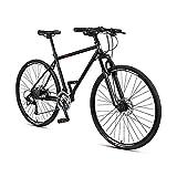 HYCBTC 27 Inch Bike 700C Full Carbon Frame Road Bikes with 27-Derailleur Specialist Ultra-Light Carbon Fiber Bike,Black