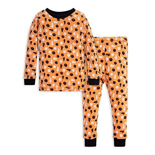 Burt's Bees Baby Unisex Baby Pajamas, Tee and Pant 2-Piece PJ Set, 100% Organic Cotton, Stamped Pumpkins, 5 Years
