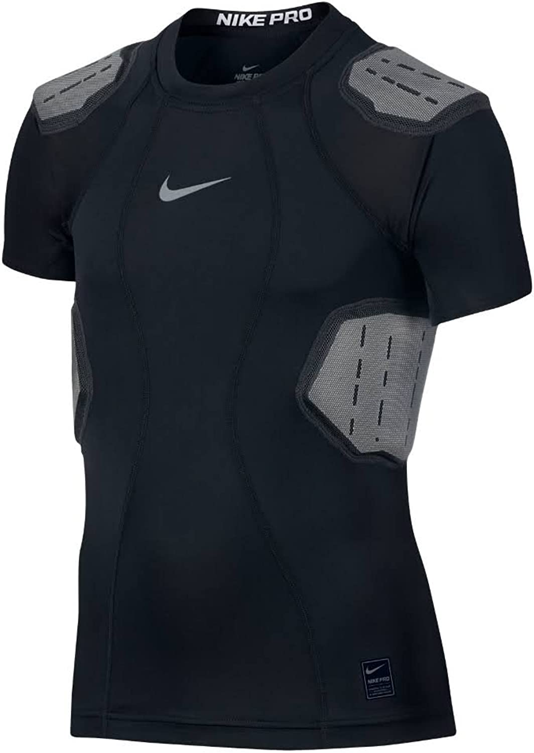 Nike 4-Pad Hyperstrong Core Compression Dri-Fit Youth Football Shirt (XL) schwarz