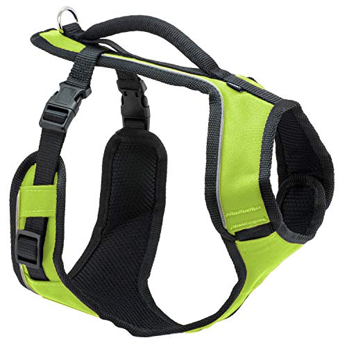 PetSafe EasySport Dog Harness, Adjustable Padded Dog Harness with Control Handle and Reflective Piping, From the Makers of the Easy Walk Harness,Apple,Medium