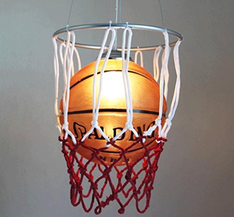 DGF Decke Kronleuchter, personalisierte Glas Basketball Beleuchtung Kreative Kinder Schlafzimmer Zimmer Lichter E27 Lichtquelle