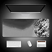 マウスパッドアニメスタイルマイヒーローアカデミーデスクパッド3D印刷特大コンピューターマウスキーボードパッドオフィスやゲームに適していますマウスパッドの防水高速で正確な制御 (900x400x4mm,28)
