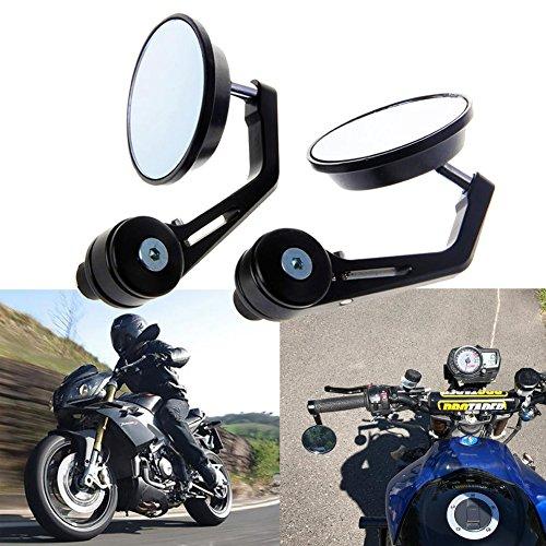 TUINCYN Specchio Retrovisore Da 7/8 Pollici 22Mm Con Maniglia Per Moto Specchio Retrovisore Rotondo In Alluminio Per Yamaha Honda Triumph Ducati Motif (Confezione Da 2)
