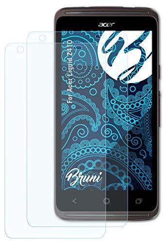 Bruni Schutzfolie kompatibel mit Acer Liquid Z410 Folie, glasklare Bildschirmschutzfolie (2X)