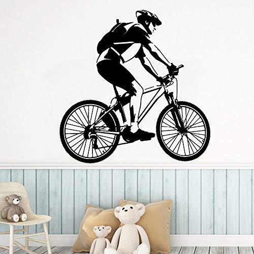 Yaonuli Fiets-muursticker schilderij woonkamer afneembare muursticker kinderkamer creatieve decoratie