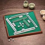 wisedwell Mahjong Mini Brettspiel Mahjong Set für Tragbare Home Reisen Mini-Mahjong Unterhaltungs Spielzeug 144 Stück -