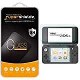 (2 Pack) Supershieldz Designed for Nintendo 2DS XL Screen Protector (2 Tempered Glass Top and 2 PET Bottom) Anti Scratch, Bubble Free