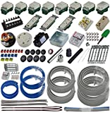 準備万端シリーズ (2回練習分) 第二種電気工事士技能試験練習用材料「全13問分の器具 電線セット」 (2020年度版)