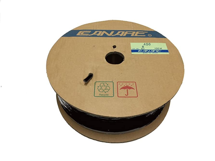 共同選択はちみつデッドCANARE カナレ 4心スピーカーケーブル(外径6.4mm) 100m巻 黒 4S6/100m BK