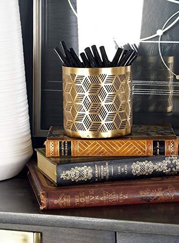 Deco 79 57417 Pencil Holder, Gold