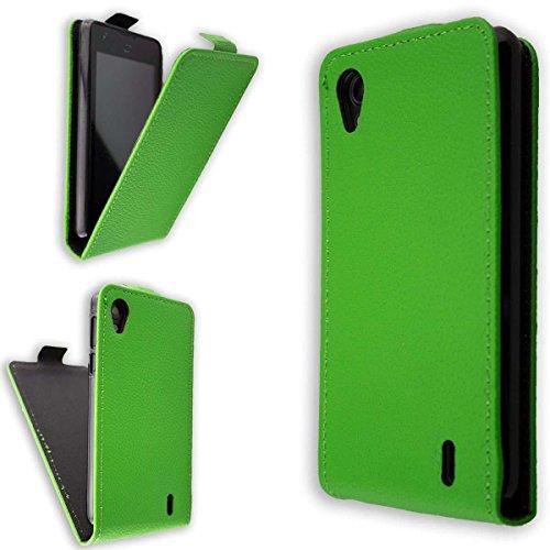 caseroxx Flip Cover für Medion Life E4005, Tasche (Flip Cover in grün)