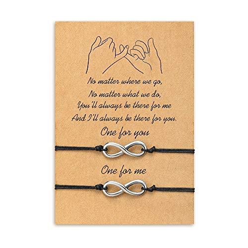 Cheerslife Infinity Freundschaftsbänder für 2 endlose Liebe Distanz passende Armbänder für Beste Freunde Beziehung Wunsch String handgemachtes Geburtstagsgeschenk für Frauen Herren