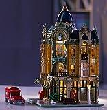 Bausteine Haus mit Beleuchtung historisches Postamt Modular Building, 3050 Klemmbausteine