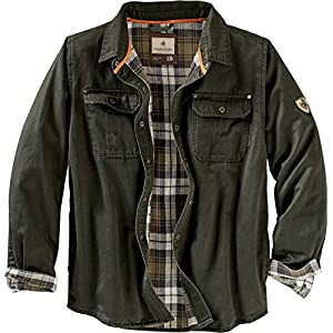 Men's  Flannel Lined Rugged Shirt Jacket