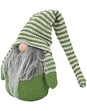 Zabawki bożonarodzeniowe Lalka bożonarodzeniowa, dekoracja lalki bożonarodzeniowej, rekwizyt na prezent do sypialni(Green and white)