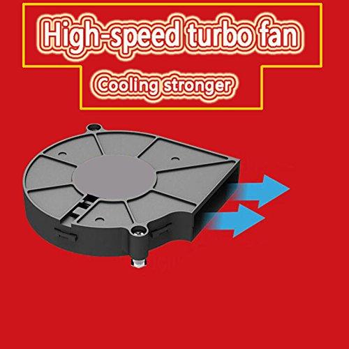 JHKJ Dünner CPU-Turbofan-Heizkörper/Computer Eine Maschine/Temperaturüberwachung/Kupferner Kern/CPU-Ventilator/Plattform 115X / I3 / I5 / I7