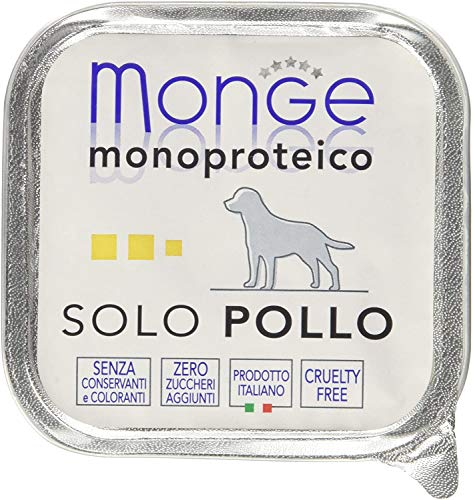 Monge Monoproteico Solo Pollo Alimento Umido per Cani 12x150gr