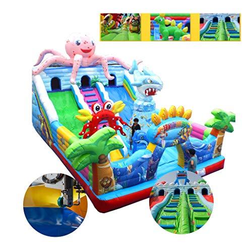 Hüpfburg kinder Kinder Schloss Kinderspielplatz Großen Außen Hüpfburg Trampolin Slide Unterhaltungs-Ausrüstung Geeignet for Spielplätze Parks (Color : Blue, Size : 10 * 6m)