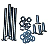 Lussuoso Furniture 32 PCS Set Hardware for Universal Modi-Plate Bed Frame Adapter/Connector, Heavy Duty Hardware for Bed Frame Modification to Connect Headboard or Footboard, Steel Bracket