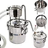 Moonshine Still Home Brew Wine Making Kit Spirits Water Alcohol Distiller 304 Stainless Steel Oil Boiler with Thermometer for Making Wine, Liquor, Pure Water, Alcohol, Essential Oil (13Gal & 50L)