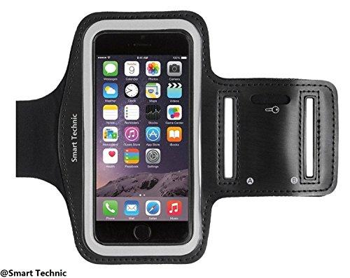 Smart Technic Fascia Sportiva da Braccio Sweatproof Bracciale per Corsa & Esercizi con Supporto Chiave e Riflettente Armband per iPhone...