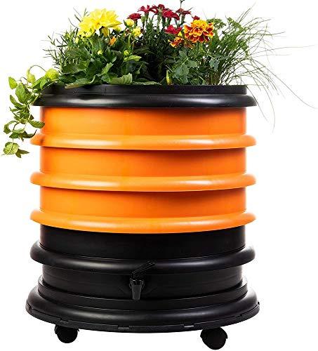 WormBox : Lombricompostiera 3 Vassoi Arancione + Giardiniera - 56 Litri