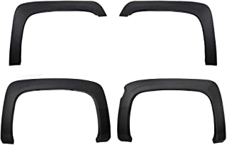 Premium Fender Flares for 2007-2013 Chevy Silverado 1500 5.8' Short Bed (NOT for Sierra)   Excl. 2007 Classic Models   Find-Textured Matte Black Paintable Factory Style 4pc