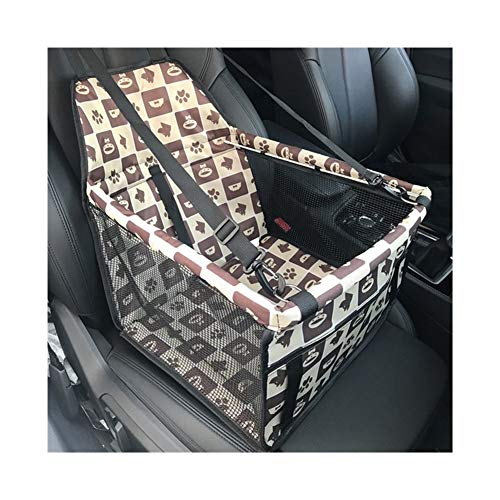 without Car Front Pet Car Bag Seat Cover Waterproof Puppy Basket Pet Car Carrier For Cats Dogs Transportin Hammock Pet Carriers Bag (Color : H)