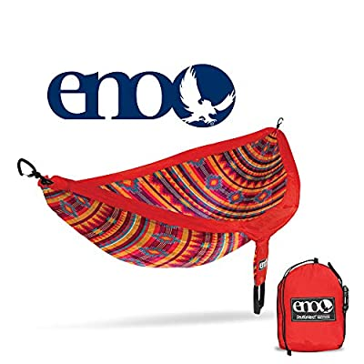 ENO, Eagles Nest Outfitters DoubleNest Print Lightweight Camping Hammock, 1 to 2 Person, Kilim Red