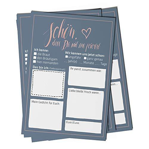 bigdaygraphix Hochzeitsspiel 52 Postkarten mit Fragen Glamour Alternative Gästebuch für Hochzeit 52 Wochen Spiel Geschenk für Hochzeiten Gesellschaftsspiel Hochzeitspaar