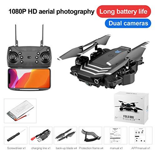 Creacom RC Drone con cámara, LS11 RC Drone con cámara HD WiFi FPV Mini Plegable 4K Dron Helicóptero Quadcopter Selfie Drones Regalos Caja de Color de 5.0MP