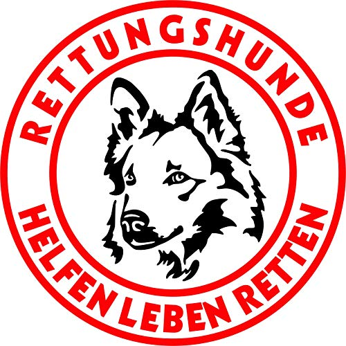 Holashirts Mallorca Harzer Fuchs Rettungshund Auto-Folien-Aufkleber Hundeaufkleber Sticker (Ø200mm)